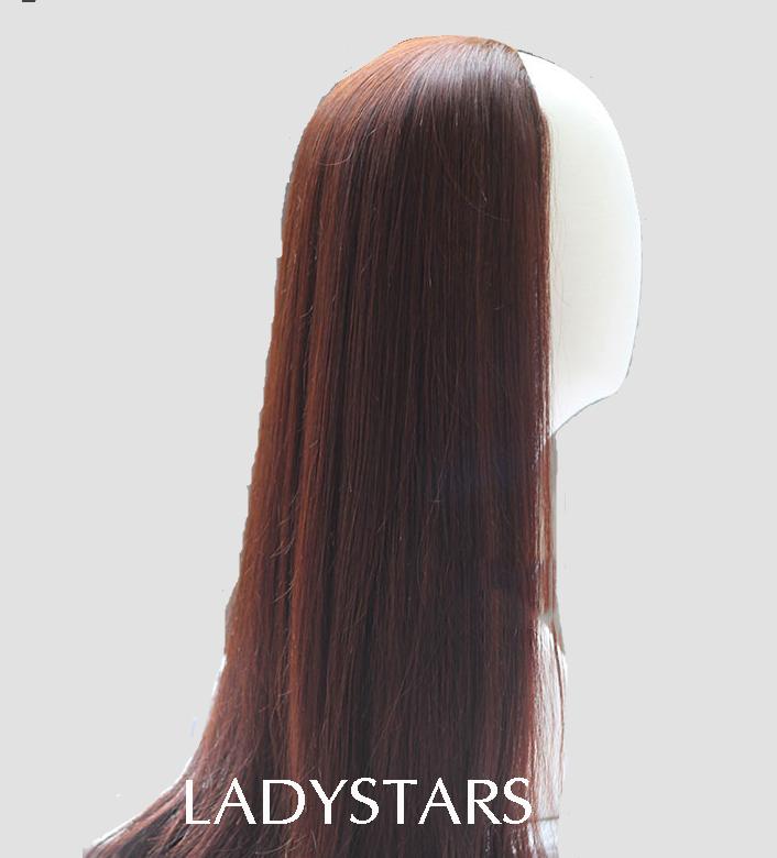Tóc kẹp nửa đầu bằng tóc thật