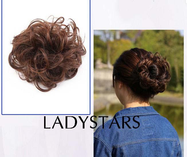 Tóc búi giả bằng tóc thật cho người trung niên