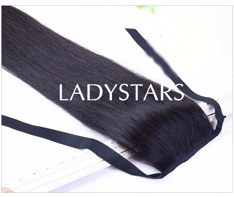 Đuôi tóc giả bằng tóc thật cột đuôi ngựa Hàn Quốc