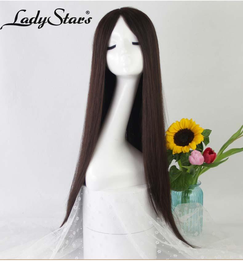 Tóc giả nguyên đầu thẳng dài nữ tính