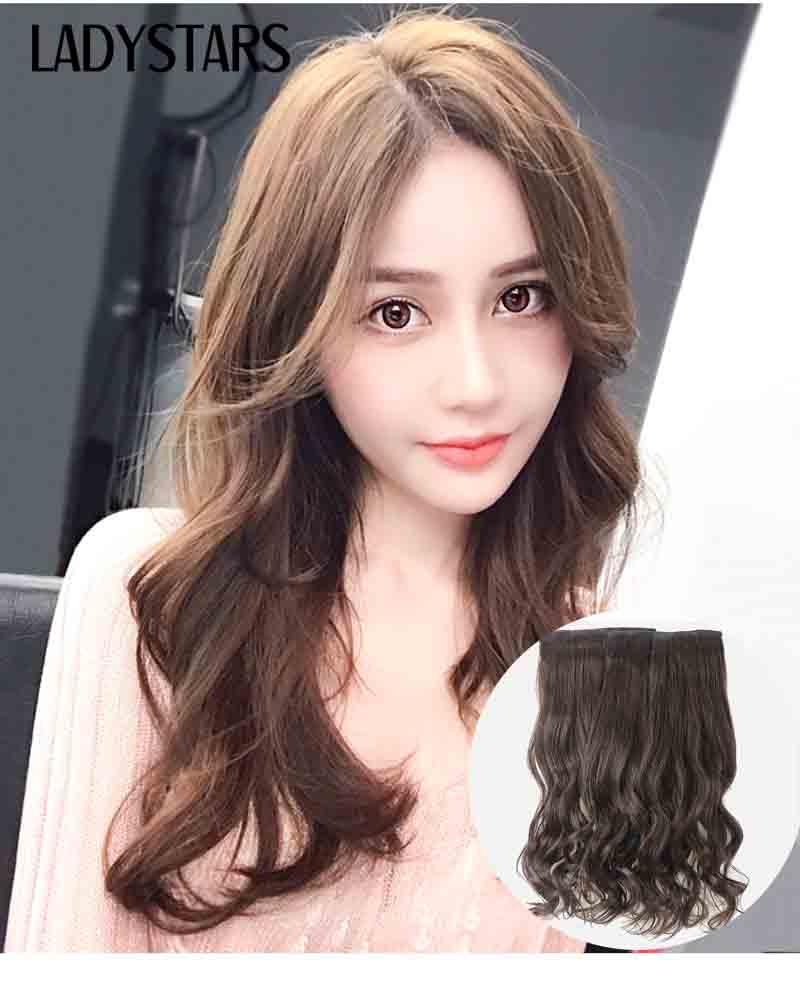 Tóc kẹp phím bằng tóc thật xoăn dài